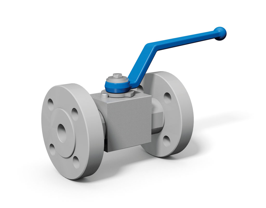 Bkh f way flange ball valve with din connection