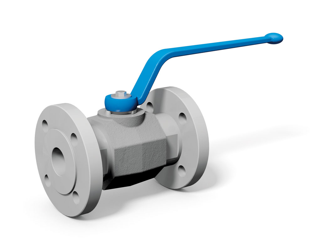 MKHP-F - 2-way flange ball valve with DIN flange connection - MHA ...