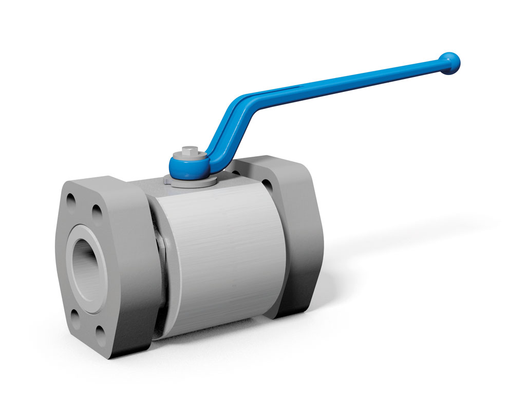 MHA ZENTGRAF MKHP-SAE 2-way ball valve with SAE adapter metric / UNC, stainless steel
