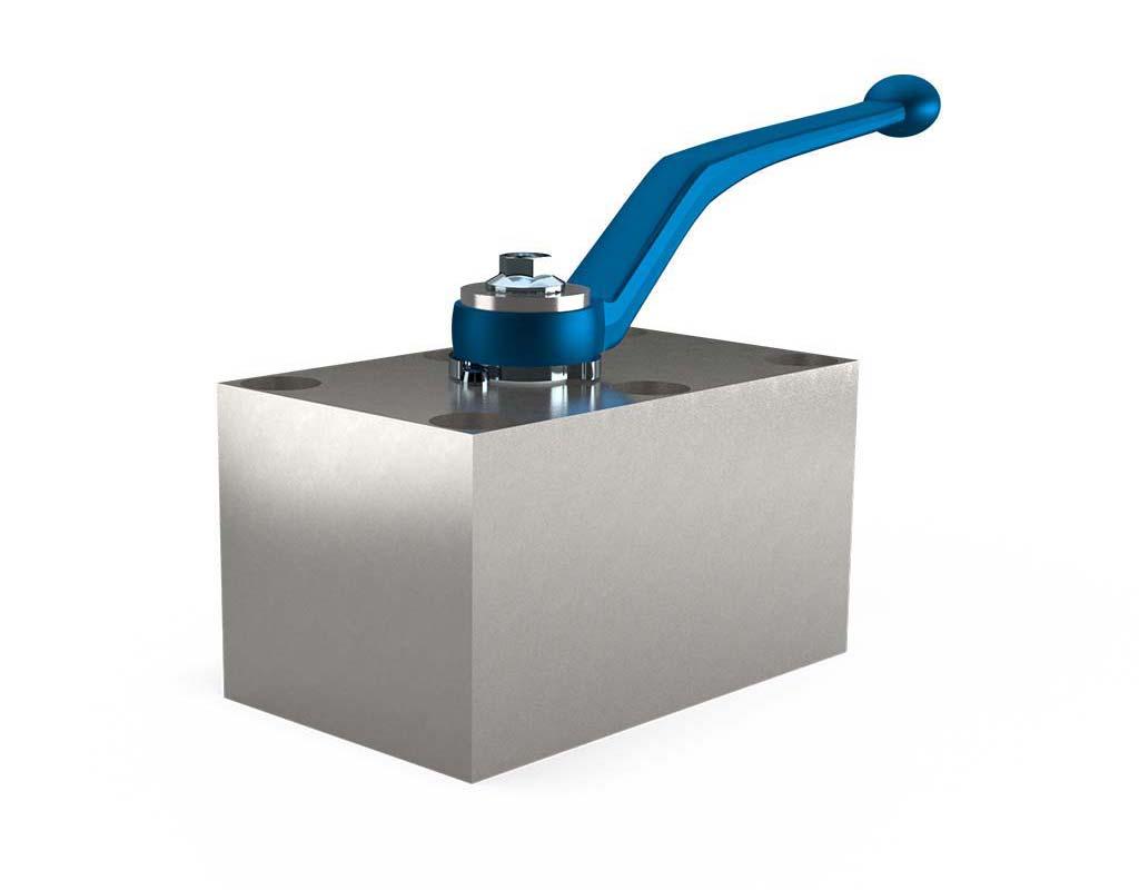 MHA ZENTGRAF PKH Ball valve for manifold mounting, stainless steel