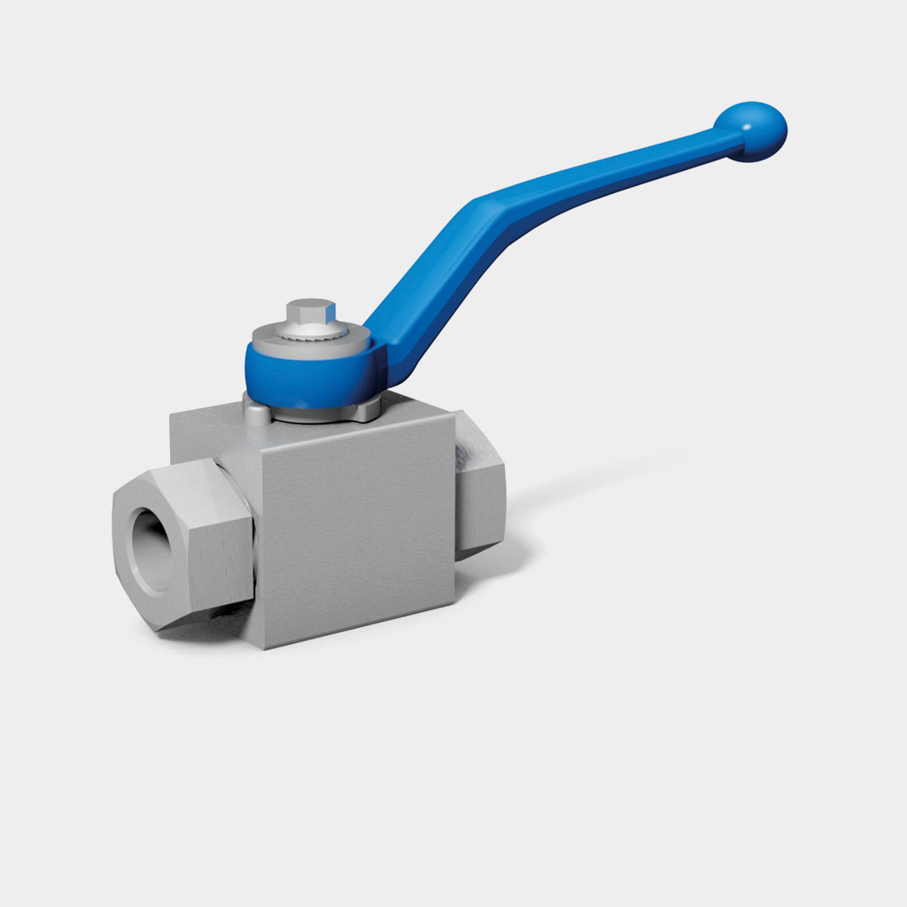 Two-way ball valves