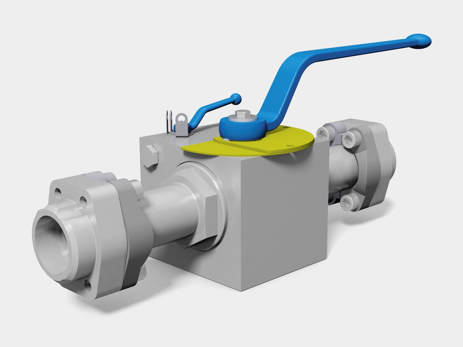 MHA ZENTGRAF Bypass ball valve with flange connection