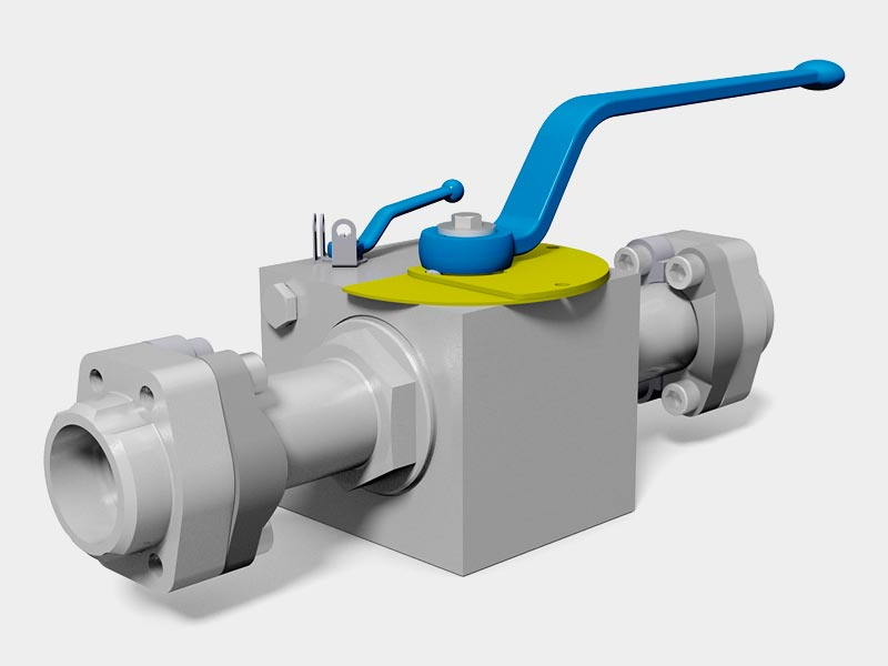 MHA ZENTGRAF ball valve with integrated bypass